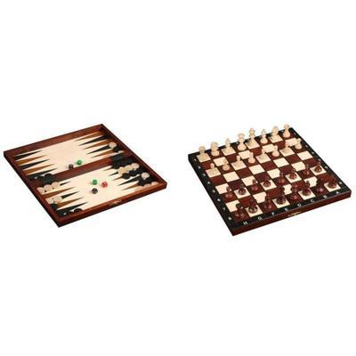 Шахматы Wiegel турнирные N4 с шашками и нардами 2066