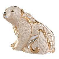 Керамическая фигурка Медведь Полярный Сидящий DE ROSA RINCONADA