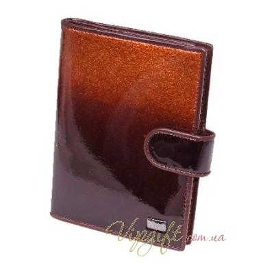 Обложка для автодокументов и паспорта Wanlima 2580053 коричневый лак