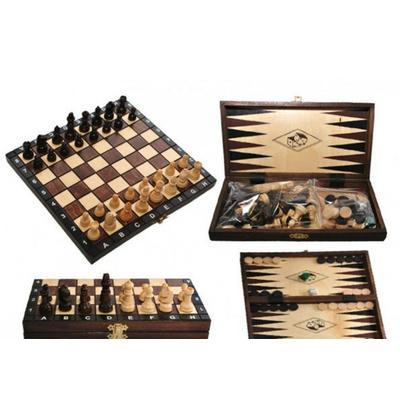 Шахматы Madon Backgamon + шашки, нарды туристические 3181