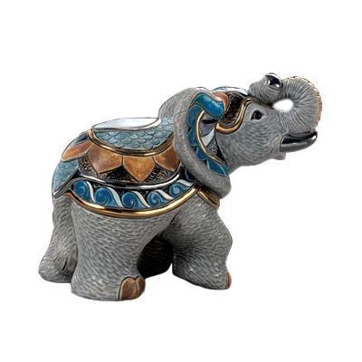 Керамическая фигурка Слон Индийский Серый De Rosa Rinconada