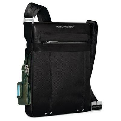 Мужская вертикальная сумка текстильная на ремне Piquadro CA1591LK_N