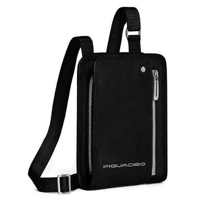 Мужская сумка из текстиля вертикальная на ремне Piquadro CA1933LK_N