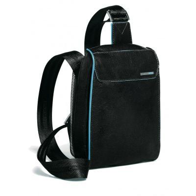 Мужская сумка из натуральной кожи вертикальная на ремне Piquadro CA1270B2_N