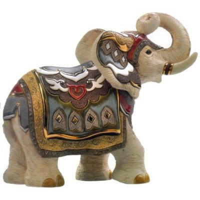 Керамическая фигурка De Rosa Rinconada Слон Индийский Белый