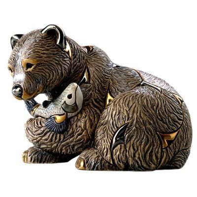 Керамическая фигурка De Rosa Rinconada Медведь Гризли