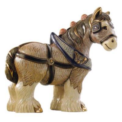 Керамическая фигурка De Rosa Rinconada Лошадь Золотая