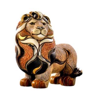 Керамическая фигурка De Rosa Rinconada Лев - Царь Зверей (стоя)