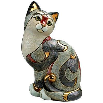 Керамическая фигурка De Rosa Rinconada Кошка Пятнистая
