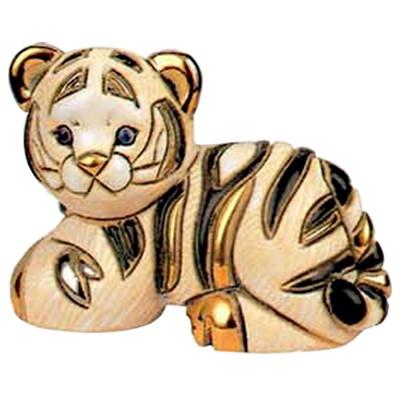 Керамическая фигурка Белый тигрёнок De Rosa Rinconada