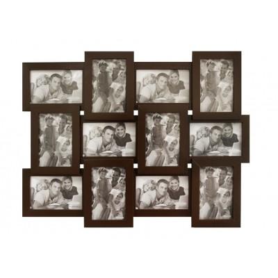 Деревянная мультирамка Руноко Венге на 12 фото