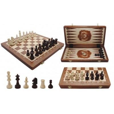 Шахматы Madon Турнирные intarsia с шашками и нардами 317904