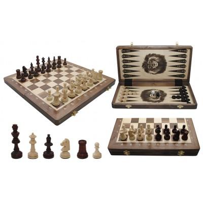Шахматы Madon Турнирные intarsia с шашками и нардами 317915