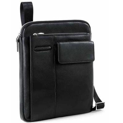 Мужская сумка кожаная вертикальная на ремне Piquadro CA1815MO_N