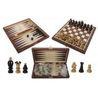 Шахматы Gniadek Королевские малые с шашками и нардами 1068