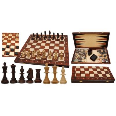 Шахматы Wiegel Турнирные N5 с шашками и нардами 2065