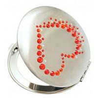 Зеркало косметическое Сердце