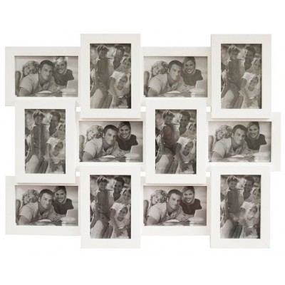 Фоторамка Мультирамка Белая на 12 фото