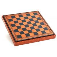 Шахматный бокс с доской Nigri Scacchi коричневый CD35