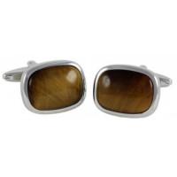 Запонки Georges Chabrolle с тигровым глазом