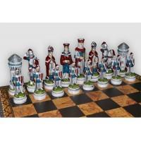 Шахматные фигуры Nigri Scacchi Giostra medievale big size