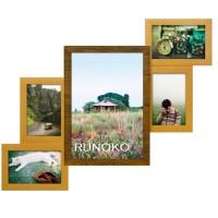 Деревянная мультирамка Руноко Двойное Золото на 5 фотографий
