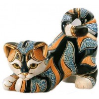Керамическая фигурка De Rosa Rinconada Small Wildlife Кот Полосатый