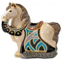 Керамическая фигурка De Rosa Rinconada Small Wildlife Конь Королевский Синий