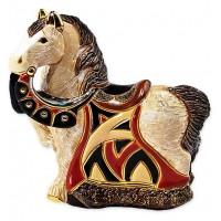 Керамическая фигурка De Rosa Rinconada Small Wildlife Конь Королевский Красный
