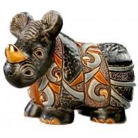 Керамическая фигурка De Rosa Rinconada Small Wildlife Носорог