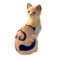 Керамическая фигурка De Rosa Rinconada Emerald Кошка белая