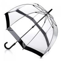 Женский зонт-трость прозрачный Fulton Birdcage-1 L041 - Black