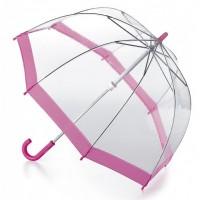 Детский зонт-трость прозрачный Fulton Funbrella-2 C603 - Pink