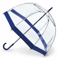 Женский зонт-трость прозрачный Fulton Birdcage-1 L041 -  Navy