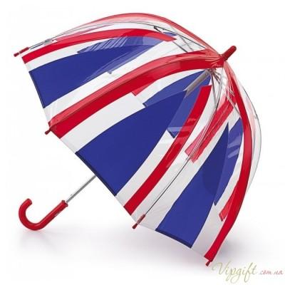 Детский зонт-трость прозрачный Fulton Funbrella-4 UnionJack C605