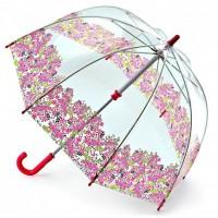 Детский зонт-трость прозрачный Fulton Funbrella-4 C605 - Pretty Petals