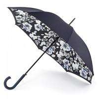 Женский зонт-трость прозрачный Fulton Bloomsbury-2 L754 Mono Floral