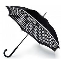 Женский зонт-трость прозрачный Fulton Bloomsbury-2 L754 Contrast Spot
