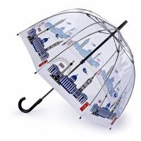 Женский зонт-трость прозрачный Fulton The National Gallery Birdcage-2 L848 - National Gallery Skyline