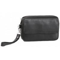 Мужская сумка-барсетка Enrico Benetti Leather Black Eb52008001