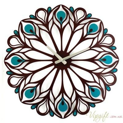 Часы настенные Glozis Peacock Feather