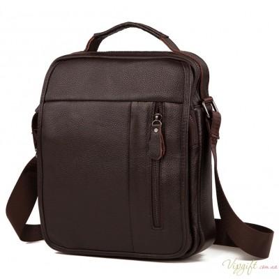 96a53be0b735 Мужская кожаная сумка Tiding Bag A25-2158C, купить Мужская кожаная ...