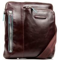 Мужская кожаная сумка вертикальная на ремне Piquadro CA1816B2_MO