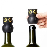 Стоппер для бутылки Owl Stopper Qualy Черный
