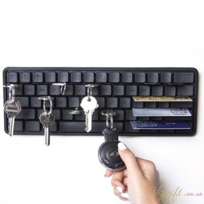 Держатель ключей и мелких предметов Keys Board Qualy Черный