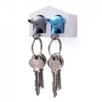 Ключница настенная и брелки для ключей Duo Elephant Qualy Синий и Серый
