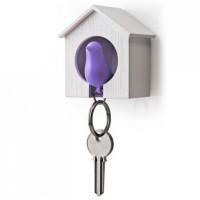 Ключница настенная и брелок для ключей Sparrow Qualy Фиолетовый