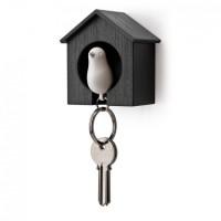 Ключница настенная и брелок для ключей Sparrow Qualy Белый