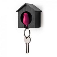 Ключница настенная и брелок для ключей Sparrow Qualy Розовый