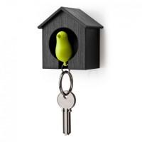 Ключница настенная и брелок для ключей Sparrow Qualy Зеленый в черном